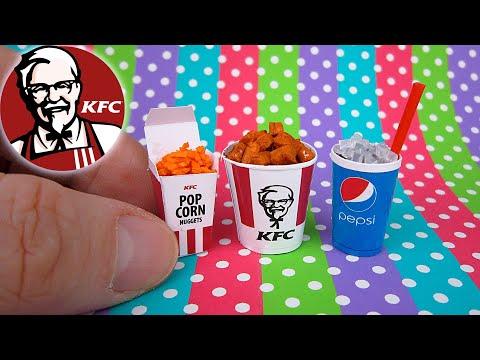 DIY Miniature KFC menu | DollHouse | No Polymer Clay!