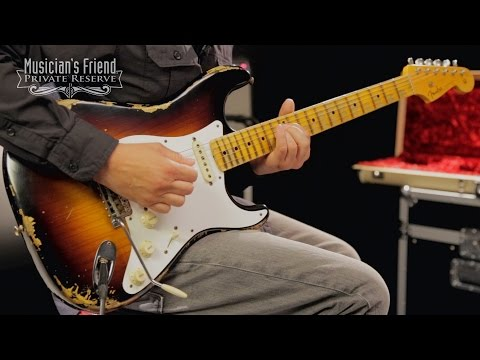 Fender Custom Shop Limited Edition 1956 Heavy Relic Stratocaster Electric Guitar, Maple Fingerboard