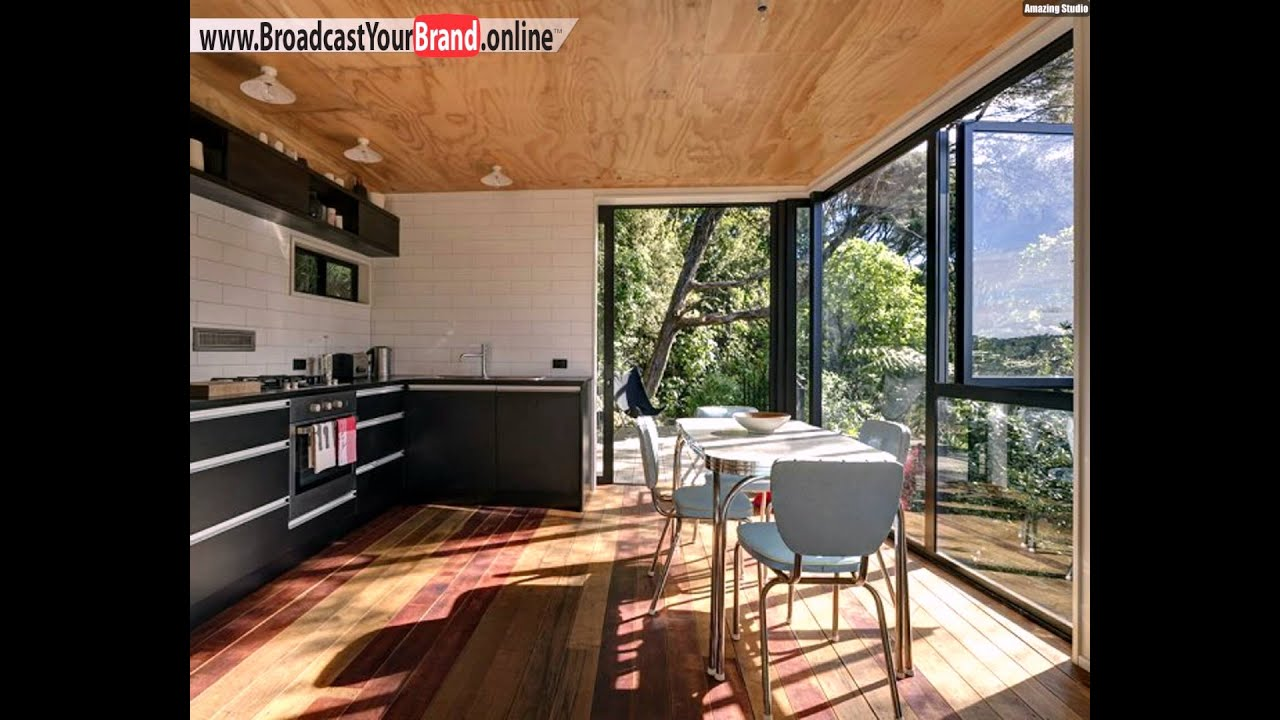 Esszimmer Küche Verglasung Innen Außen Übergang Fließend Holz - Wohnzimmer deckenverkleidung