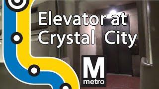 Elevator at WMATA Crystal City Station