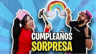 Sorprendo a SANDRA CIRES ART por su cumpleaños y ESTO PASA!
