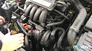 Skoda Octavia 1.6 АТ. Заливка Форум Синтетик в двигатель.