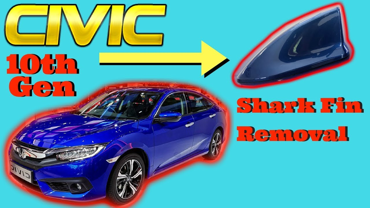 2016 2017 2018 Honda Civic Shark Fin Antenna Removal How to Remove Take off