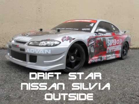 Tamiya Tt Rc Brushless Drift Star Nissan Silvia Outside