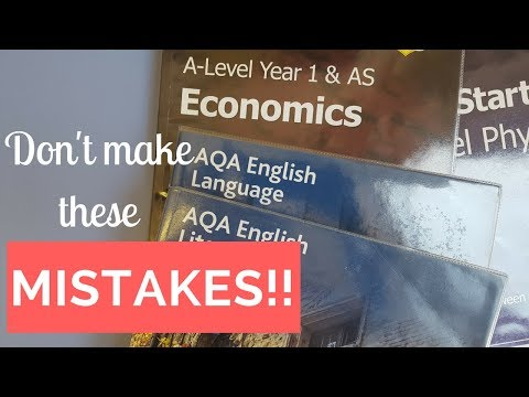 Biggest MISTAKES made at sixthform A levels || STUDENT BOSS