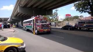 Los Diablos Rojos - Red Devil buses (the painted buses) of Panama City