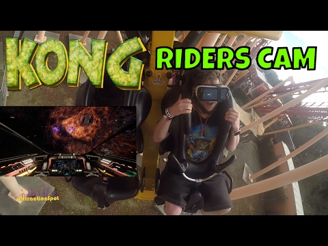 Kong Galactic Attack VR Riders Cam (HD POV) Six Flags Discovery Kingdom
