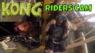 Kong Galactic Attack VR Riders Cam (HD POV) Six Flags Discovery Kingdom | AttractionSpot