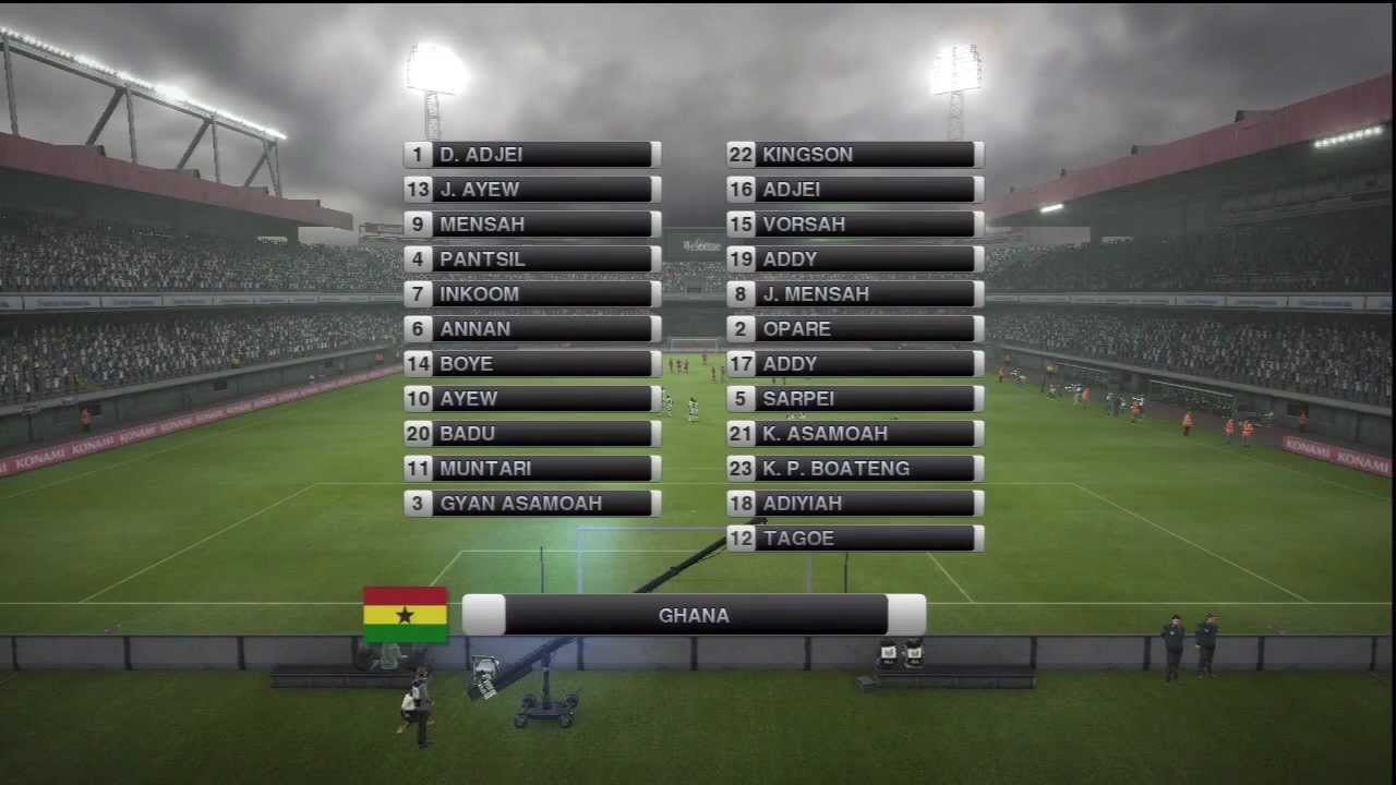 Ghana 2 - 3 ☪ Tunisie ☪ [PES 2012] (1/2) | CAN 2012 (1/4 de Finale) | CPU  Vs  CPU