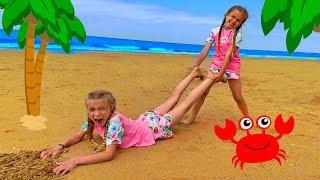 las ratitas quieren los mismos juguetes en la playa