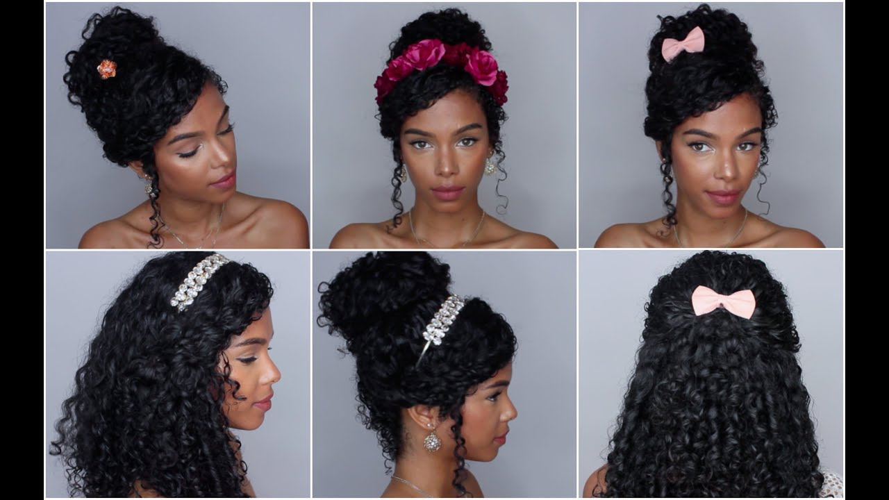 5 easy hairstyles with accessories vol. 1 - youtube