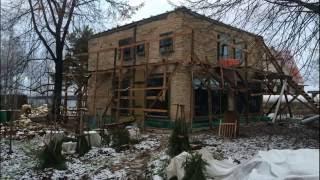 Строительство дома из камня в деревне Прибылово