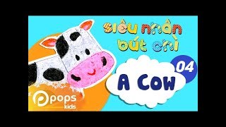 Hướng Dẫn Vẽ Con Bò - Siêu Nhân Bút Chì - Tập 4 - How To Draw A Cow