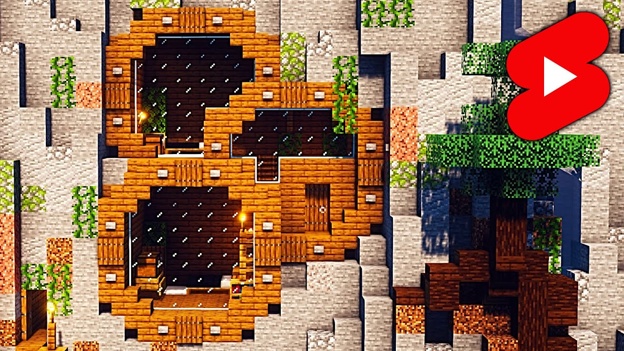 Mountain House Idea - Minecraft Timelapse #Shorts