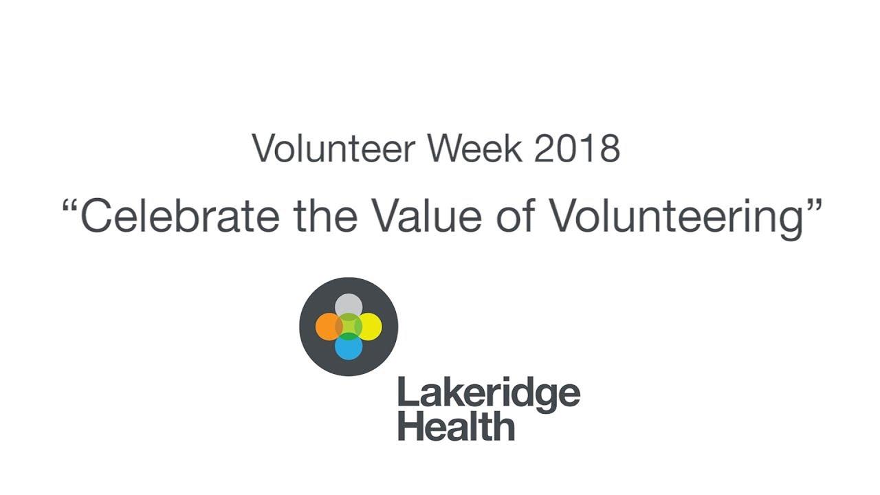 Volunteer - Lakeridge Health
