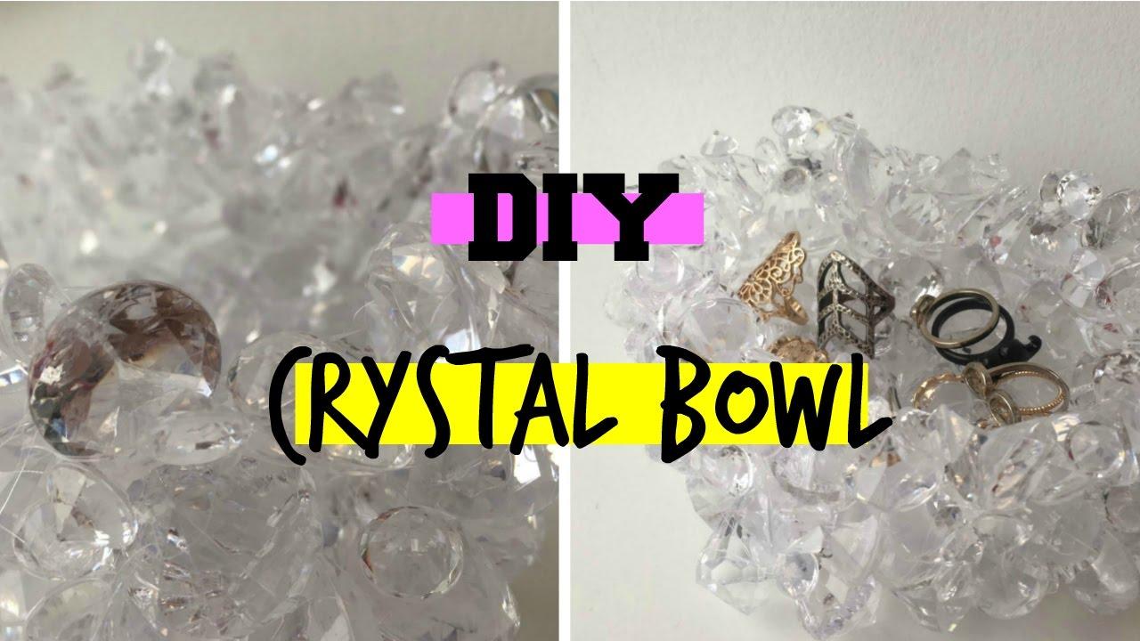 DIY Crystal Bowl | Aesthetic Room Decor | Dollar Store ...