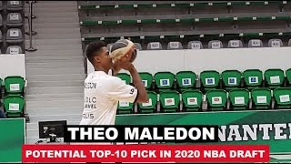 17-Year-Old French Point Guard Theo Maledon Pre Game Workout