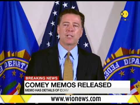 Memos of James Comey on talks with Trump released to US Congress