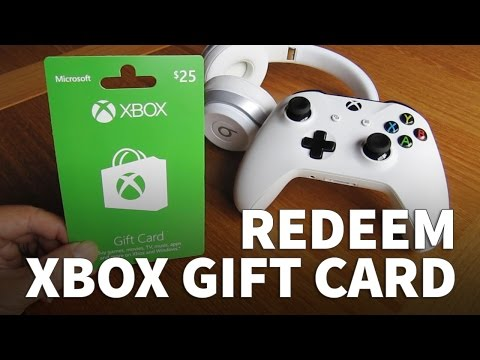 How to Redeem Xbox Gift Card on Xbox Console – Xbox One and Xbox One S with Xbox Live