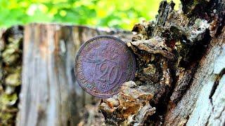 Разведка в лесу. Коп монет и сопутки 2021