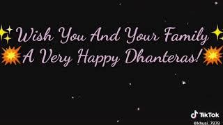 Wish you happy dhanteras