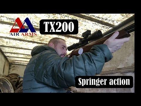 Air Arms TX200 MK 1  (.22 calibre) around the farm in HD.