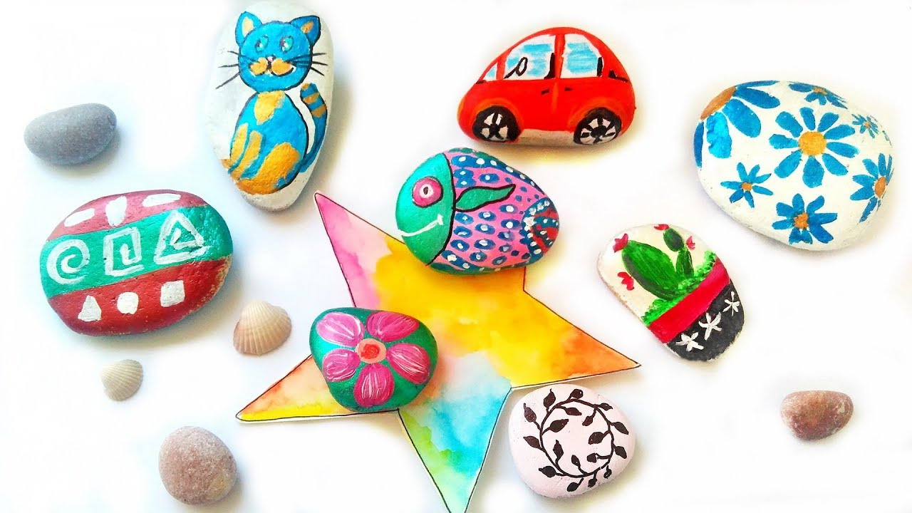 Colorful Rock Painting Ideas For Garden Decor Diy Stone Art Crafts Youtube