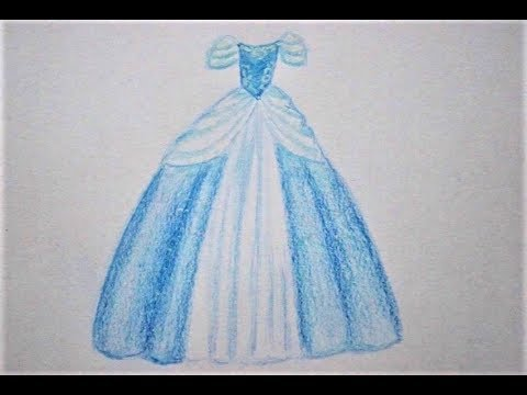 Prinzessin Kleid Zeichnen How To Draw Princess Dress Risovat