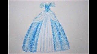 Prinzessin Kleid zeichnen lernen