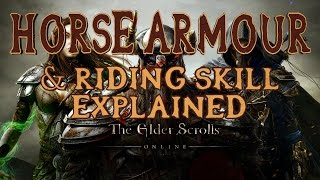 Elder Scrolls Online | How to Unlock Horse Armour & Riding Skill Explained | Quick Tips 6 | PS4/Xbox