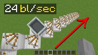 the fastest way t๐ travel in minecraft (not clickbait)