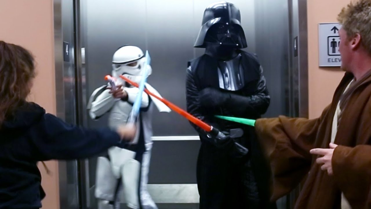star wars in real life prank