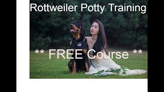 Rottweiler Potty Training -  #FREE Course