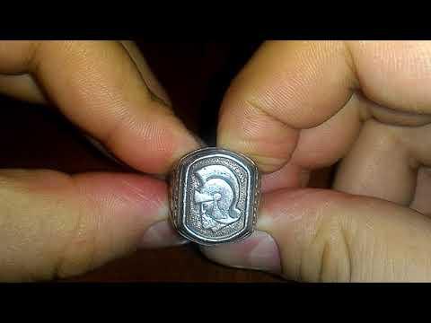 Редкий перстень Спарта серебро