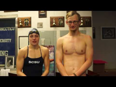 Swimming and Diving Post Meet Interview