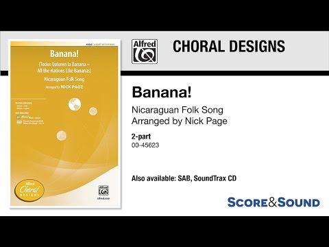 Banana!, arr. Nick Page – Score & Sound