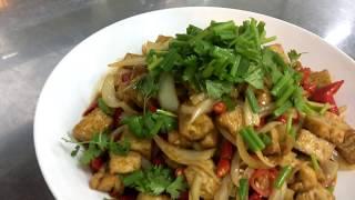 Tufu stir  fry | How to make spicy honey with Tufu