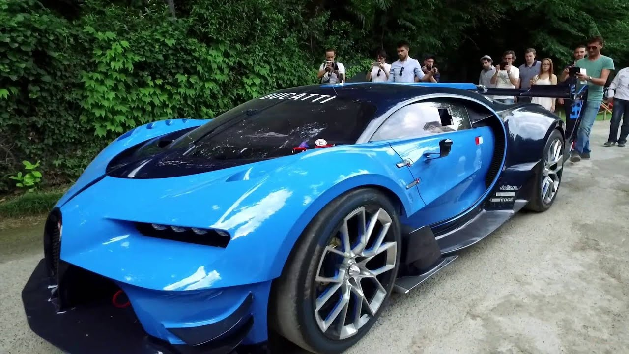 Concours D Elegance >> Amazing START UP of BUGATTI CHIRON Vision Gran Turismo Racing Coupe, DRIVING, Glidecam, Exhaust ...