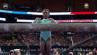 Simone Biles Completes Her Incredibly Difficult Balance Beam Routine | Summer Champions Series