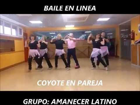 BAILE EN LINEA COYOTE EN PAREJA AMANECER LATINO - YouTube