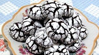 Мраморное Шоколадное  #ПЕЧЕНЬЕ, Треснутое ПЕЧЕНЬЕ Нежное и очень Вкусное #Рецепт