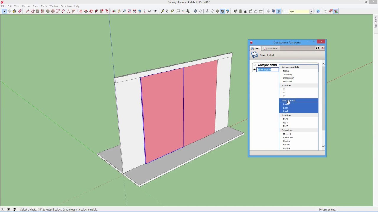 How to make a sliding door animation in sketchup youtube for Sketchup door