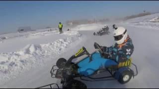 Ошибки, аварии, забавные моменты, Зимний картинг 2017