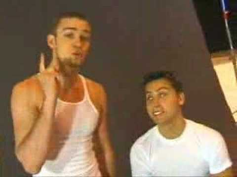 Justin Timberlake And Lance Bass At Photoshoot