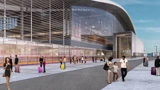 Вокзальный комплекс ''НҰРЛЫ ЖОЛ''. ''NURLY ZHOL'' railway station