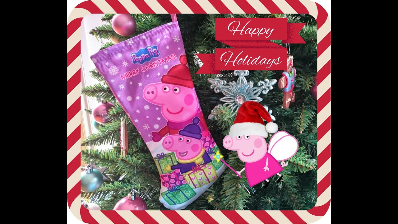 Pig christmas ornaments - Peppa Pig Christmas Stocking Surprise