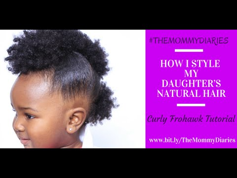 How I Style My Daughter S Natural Hair Curly Frohawk Tutorial Themommydiaries Youtube