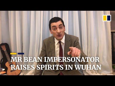 Mr Bean impersonator tries to raise spirits in coronavirus-hit Wuhan, China