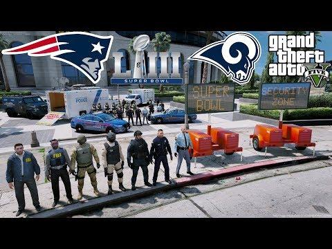 GTA 5 LSPDFR Protecting Super Bowl 53 FBI, DHS, Atlanta Police & Georgia State Patrol