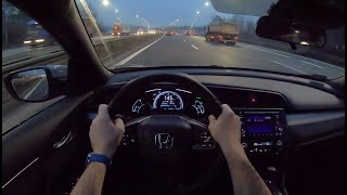 Honda CIvic X 5D Night | 4K POV Test Drive #138 Joe Black